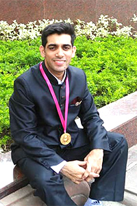 Rohit Jain dressed in black.