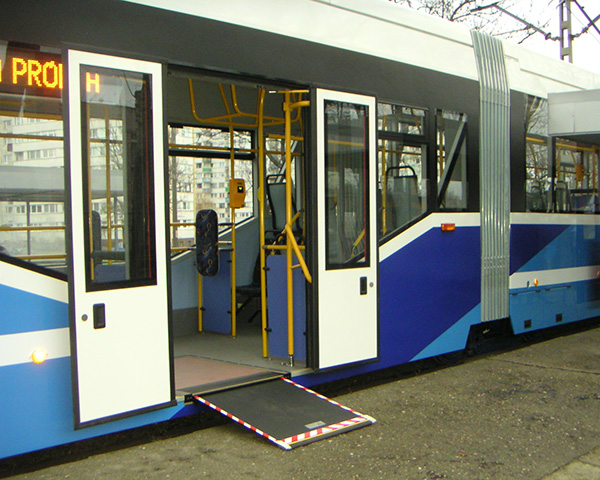 Image of wheelchair ramp in bus