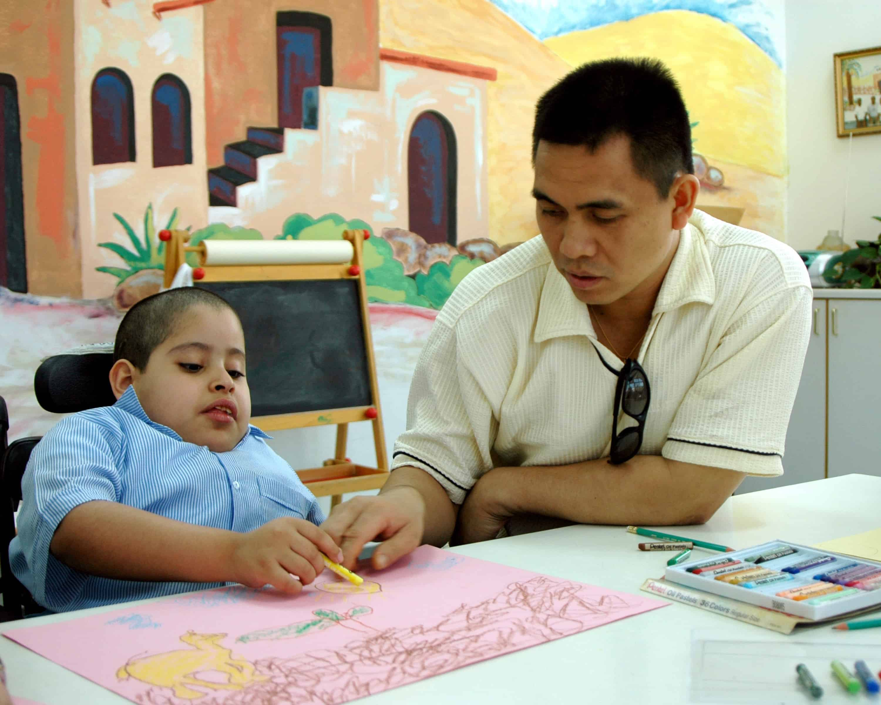 Image of teaching a child