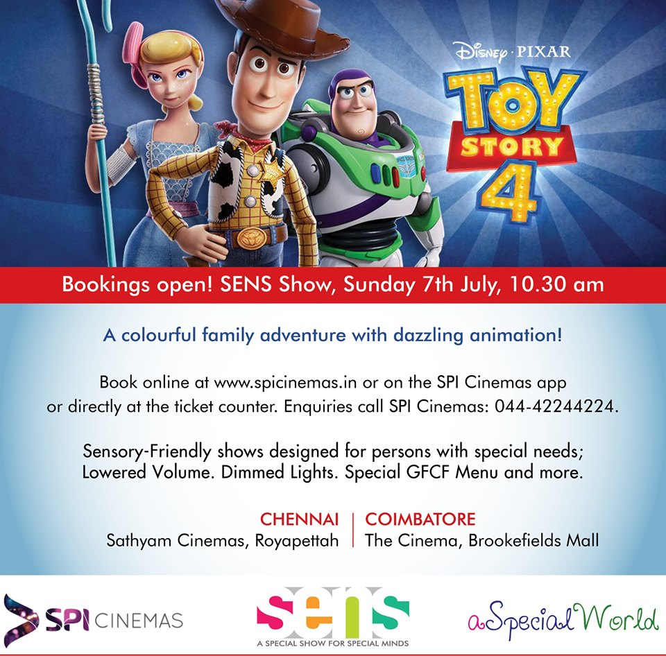Toy Story 4 Sens Show In Coimbatore Newz Hook