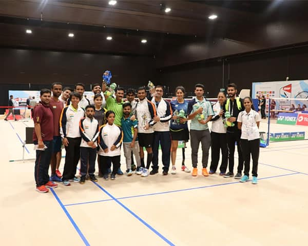 Image of para badminton players from India