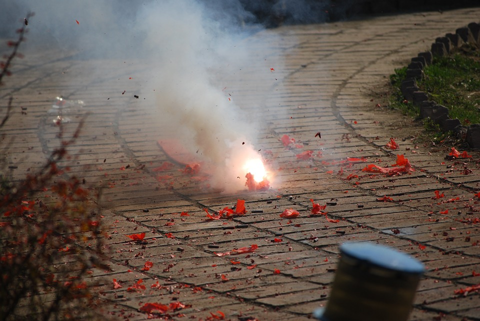 Image of firecrackers pollution