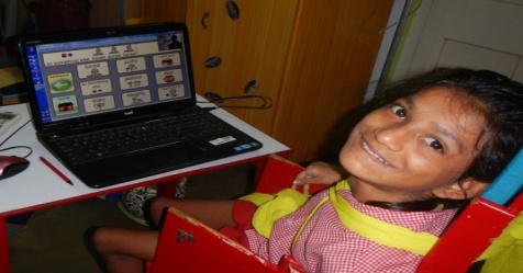 Tobii Dynavox eye tracker is opening new world to little Ganga