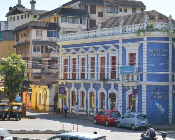 Image of a street in Panjim in Goa