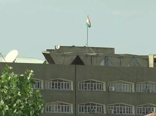 Image of Indian flag at jammu and kashmir secretariat