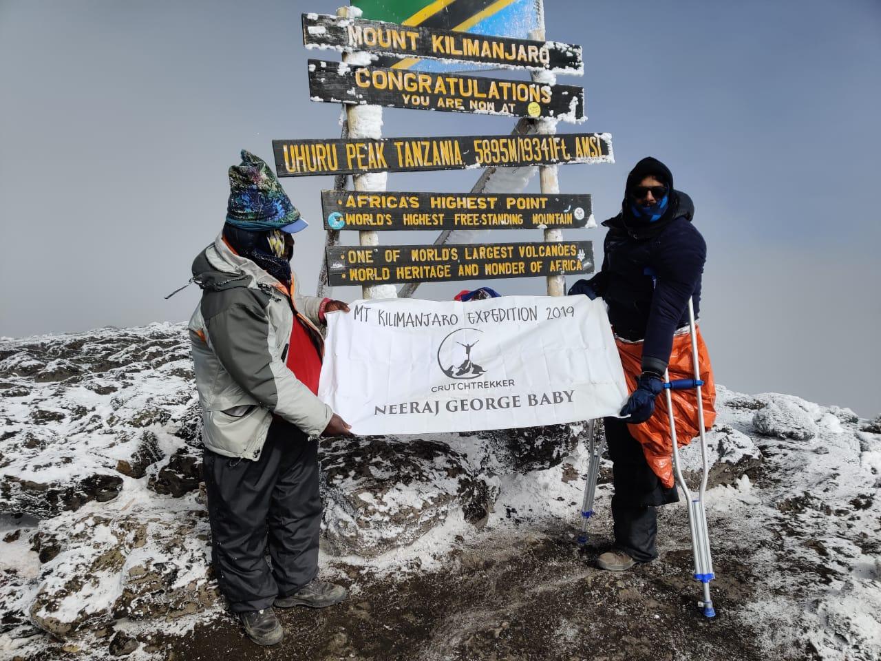 Image of neeraj at kilimanjaro