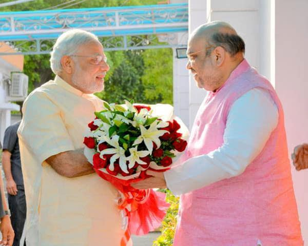 Image of narendra modi and amit shah