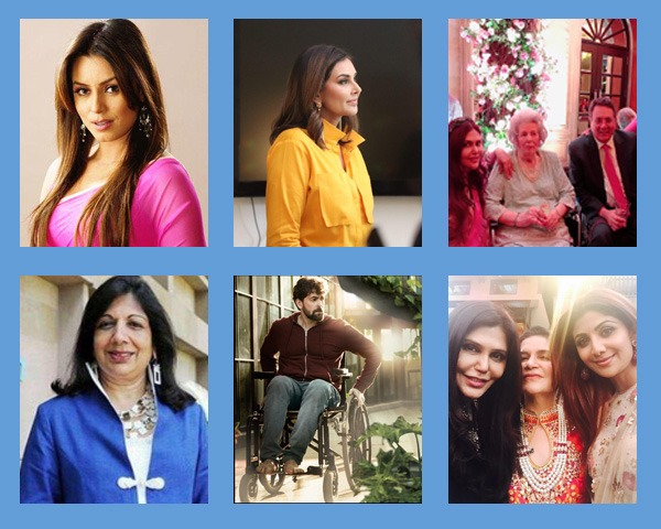 Montage of images of Shilpa Shetty, Lisa Ray, Nisha Jamvwal, Kiran Mazumdar Shaw and Neil Nitin Mukesh