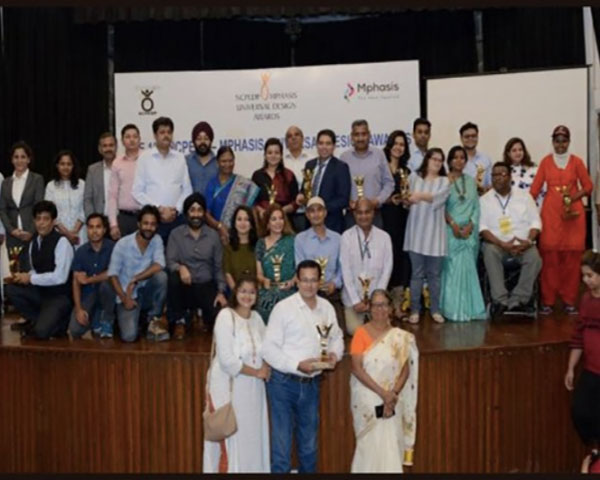 Image of all the winners of the NCPEDP-Mphasis Universal Design Awards 2019