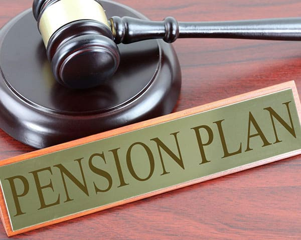 the word Pension typed on a paper