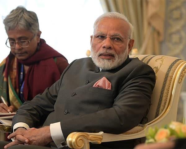 PM Modi sitting