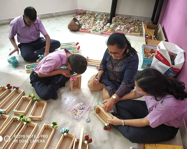 children making products