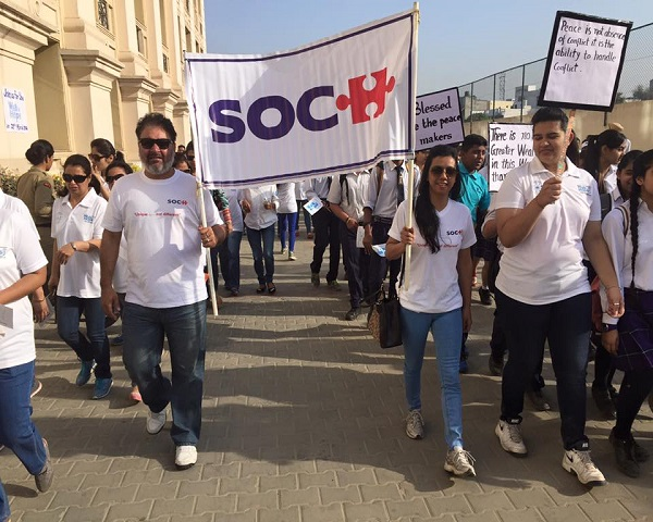 Image of a rally held by members of SOCH-Autism Society of Punjab