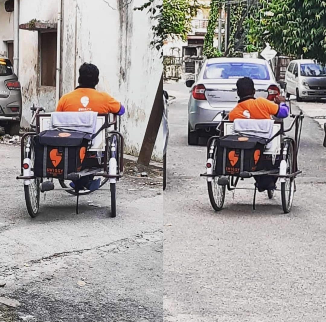 Image of Swiggy delivery boy