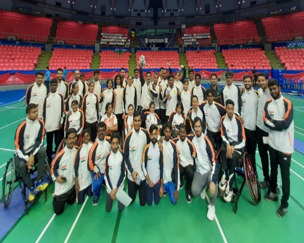 Image of Indian para badminton contigent at 2019 Thailand Para Badminton Tournament