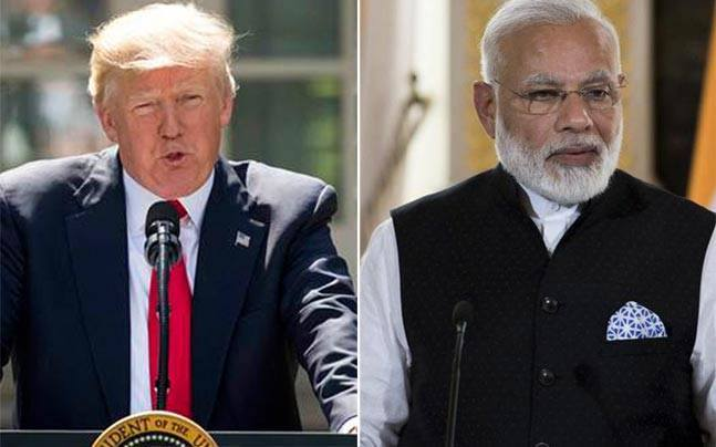 Image of donald trump and narendra modi