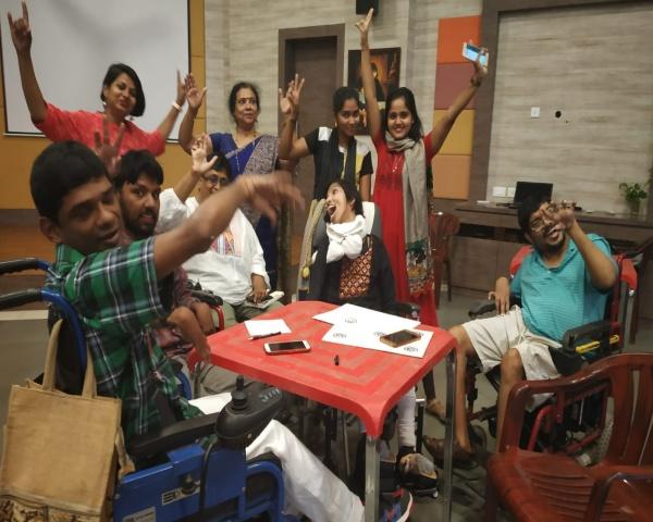 The team that underwent training at Vidya Sagar