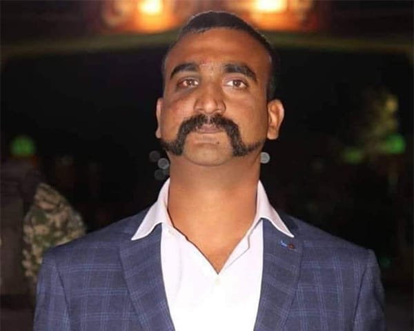 Close up of Abhinandan VArthaman