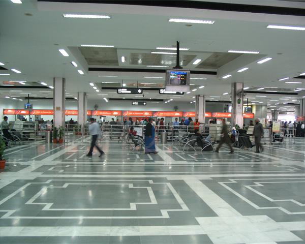 New Delhi airport lobby