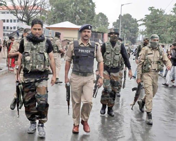 Image of India security forces in Jammu and Kashmir