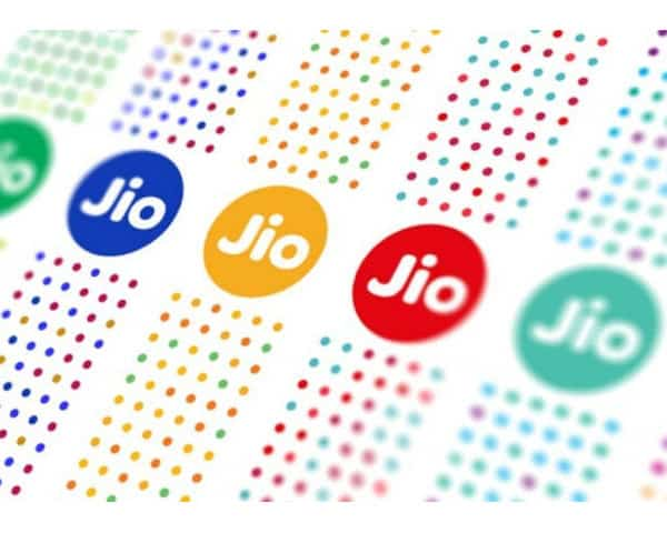 jio written in various colors