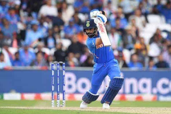 Virat Kohli batting on the field