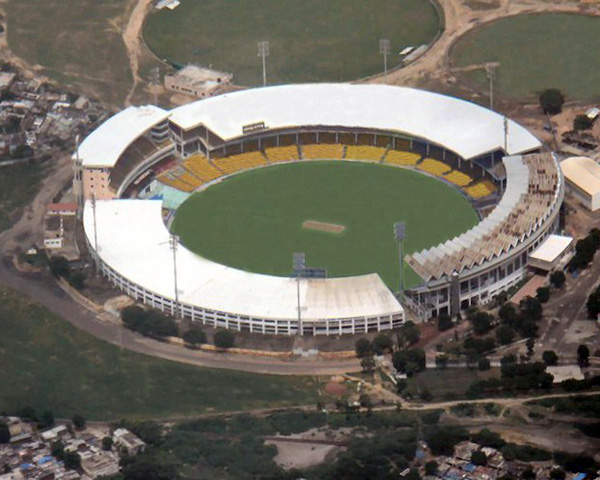 aerial view of motera stadium
