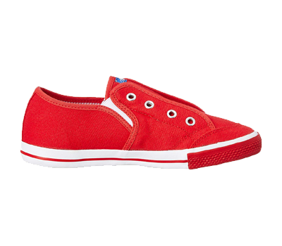 A red coloured shoe.