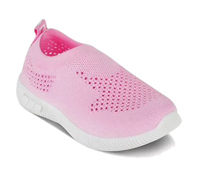 A pink coloured shoe.