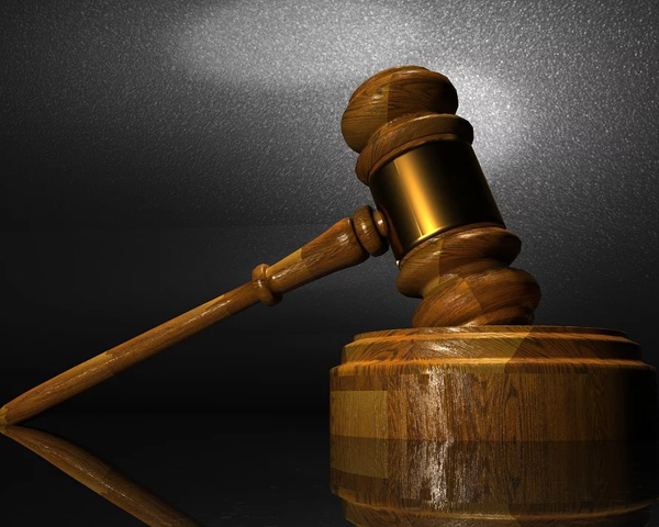 Image of a gavel used to symbolise justice