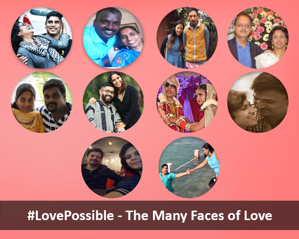 A Collage of images of 10 couples
