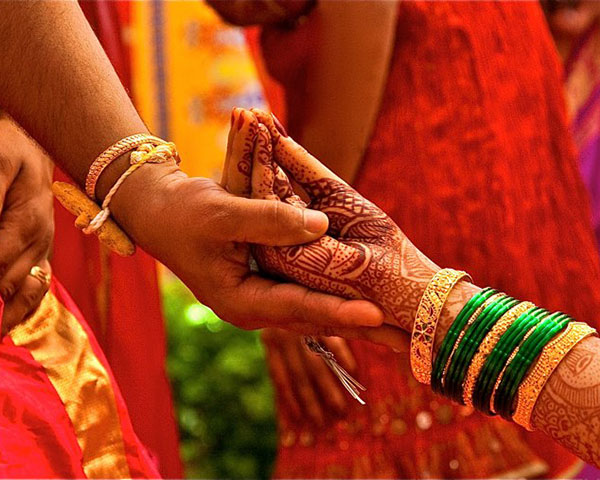 Hand with bridal mehendi