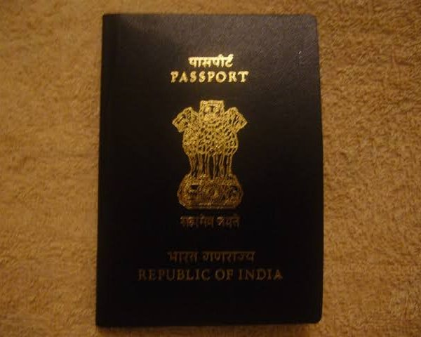 Lotus on Indian passport