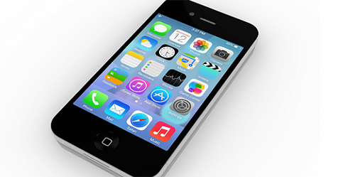 Image of a mobile phone with apps