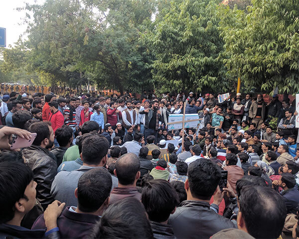 Students protest against the Citizenship Act