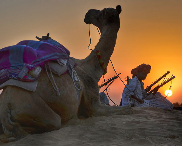 Desert image from Rajasthan