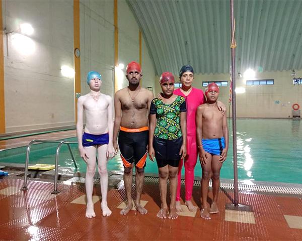 rajini lakka disabled children swimming