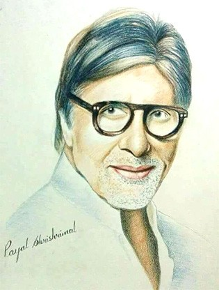 Sketch of amitabh bacchan