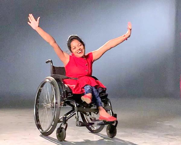 Wheelchair user Srilatha