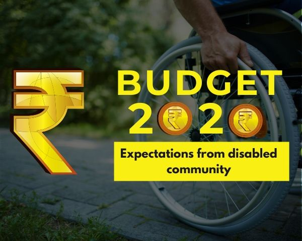 Rupee symbol along with Budget 2020 expectations from disabled community