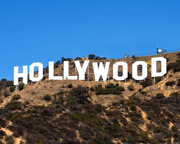 Hoarding with the words Hollywood