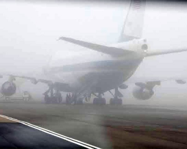fog at airport