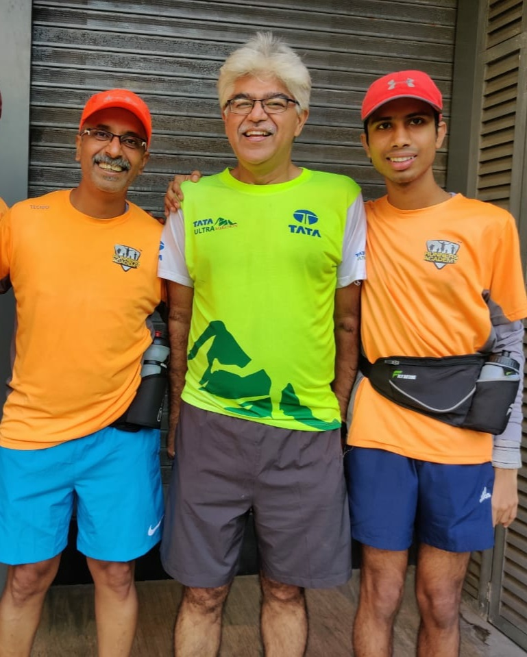 Varun with dad and co-runner Kaushik Bhatia