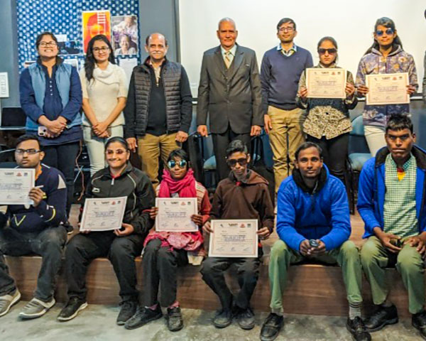 Disabled students of FTII Jaipur course