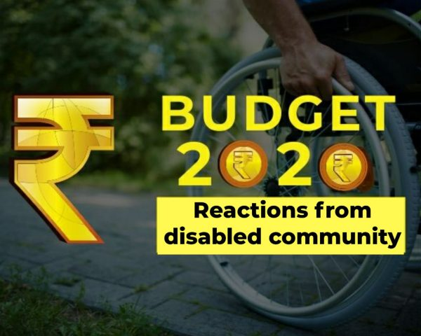 Budget 2020 with the words reactions from disabled community