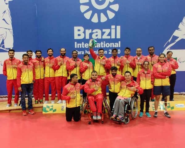 Indian para badminton players at Brazil