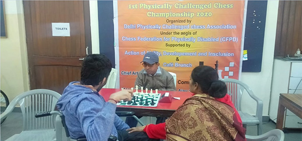 Images from Delhi championship for physically disabled in chess.