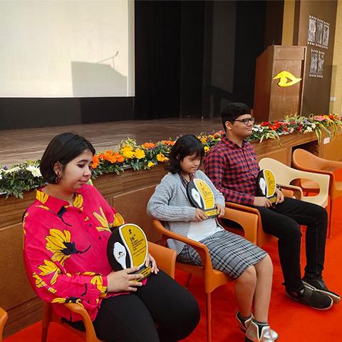 Gayatri Gupta being felicitated.
