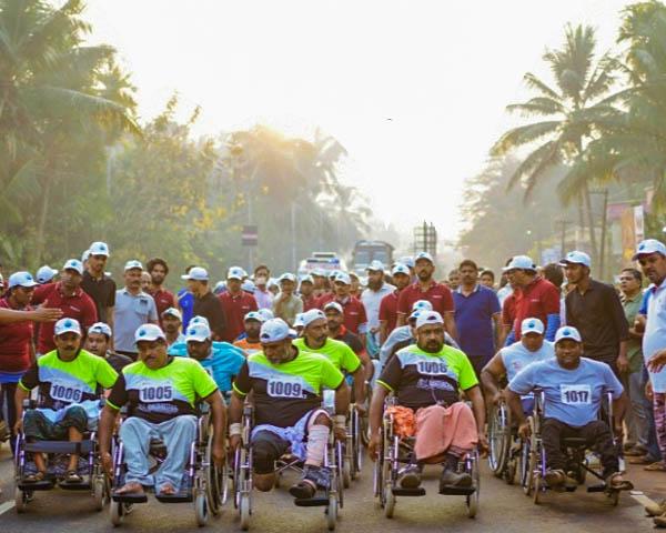 kerala wheelchair marathon