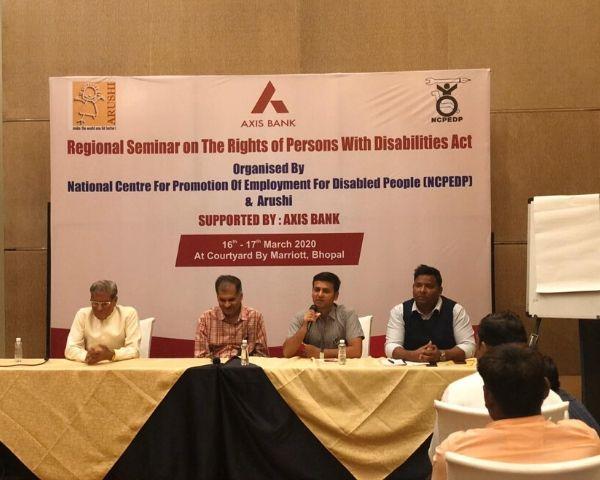 NCPEDP seminar, Bhopal